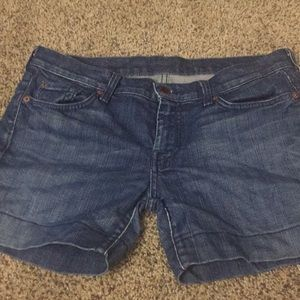 7 For All Mankind Shorts - 7 for all mankind jean shorts